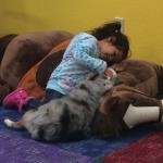 Kalani with child